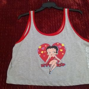Betty Boop crop top size XXL